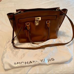 Michael Kors leather hand bag in brown